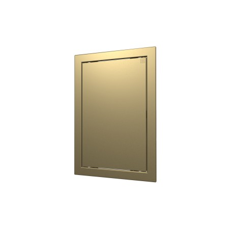 L2025 champagne, Push revision hatching door 218kh268 with flange 196kh246 ABS, décor