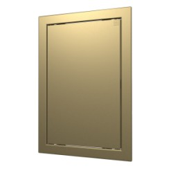 L1520 Champagne, Push revision hatching door168kh218 with flange 146kh196 ABS, décor