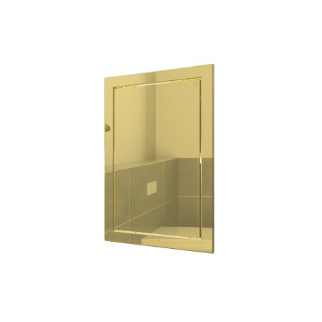 L2025 gold, Push revision hatching door 218kh268 with flange 196kh246 ABS, décor