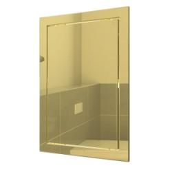L1520 zlato, Drsna revizijska vrata168kh218 s prirobnico 146kh196 ABS, décor