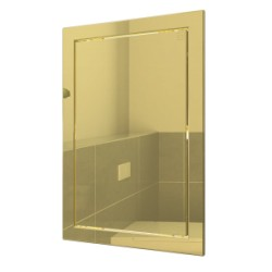 L1520 gold, Push revision hatching door168kh218 with flange 146kh196 ABS, décor
