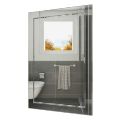 L2030 chrome, Push revision hatching door 218kh318 with flange 196kh296 ABS, décor