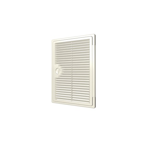 Ventilated revision hatching doors DEKOFOT with bolt handle 250kh250, plated mounting