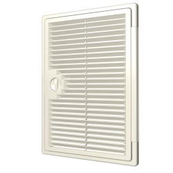 Ventilated revision hatching doors DEKOFOT with bolt handle 150kh150, plated mounting
