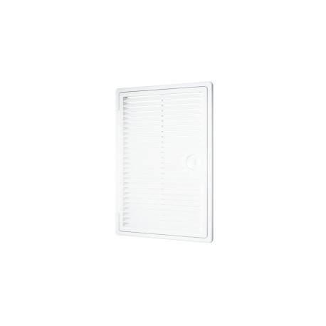 Ventilated revision hatching doors DEKOFOT with bolt handle 300kh300, plated mounting