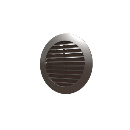 Outside round grill D150 with flange D125, ASA plastic