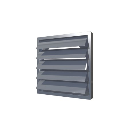 Exhaust grill with gravitational louvers  212kh212  with flange D160, grey, ASA plastic