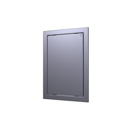 L1515  gmetal, Push revision hatching door168kh168 with flange 146kh146 ABS, decor