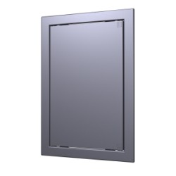 L2025 gray metal, Push revision hatching door 218kh268 with flange 196kh246 ABS, décor