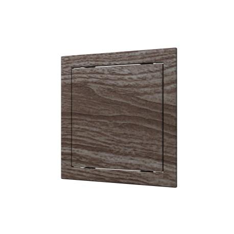 L1515  oak, Push revision hatching door168kh168 with flange 146kh146 ABS, decor