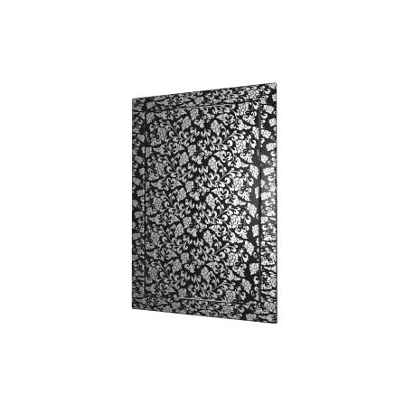 L1515  črna barva, Drsna revizijska vrata168kh168 s prirobnico 146kh146 ABS, décor