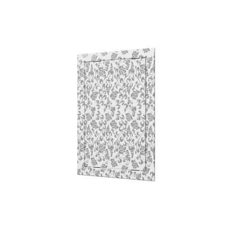 L1515  bela barva, Drsna revizijska vrata168kh168 s prirobnico 146kh146 ABS, décor