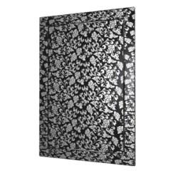 L1520  črna barva, Drsna revizijska vrata168kh218 s prirobnico 146kh196 ABS, décor