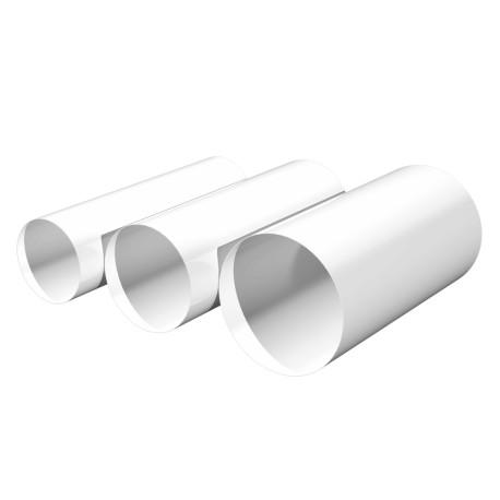 Round duct D100, L 0,5m, PVC