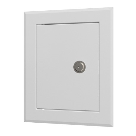 Jeklene revizijske vrata 310x510 s prirobnico 250x450  in ključavnico v valovitem pakiranju