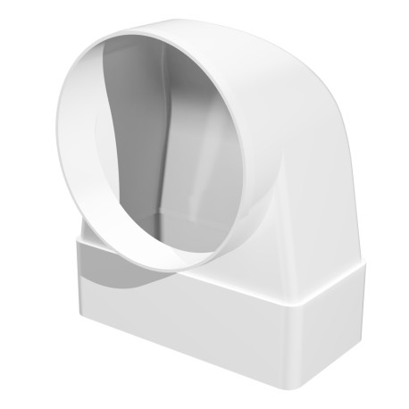90° connector between rectangular duct 60x204 and round duct D125