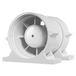 Axial duct inlet-and-exhaust fan with fastening set BB D100