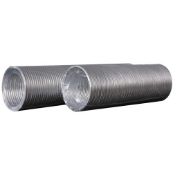 Aluminum flexible goffered air duct, L up to 3 m, D 80 mm
