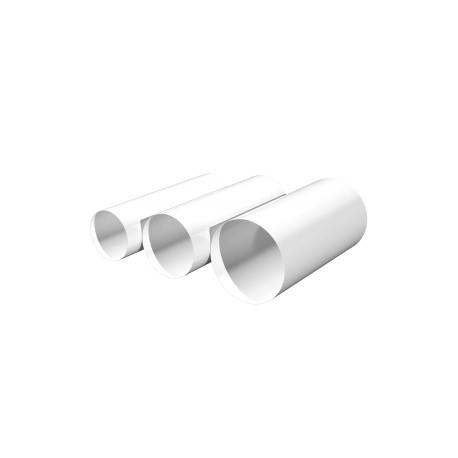 Round duct D125, L 1m, PVC