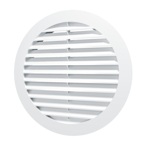 Outside round grill D130 with flange D100, ASA plastic