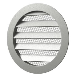 Outside round grill with screen D225 with flange D200, Aluminum