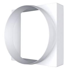 Priključek med kvadratnim presekom 90x90 in okroglim kanalom D100