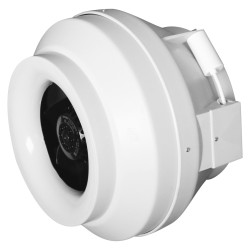 Centrifugal duct inlet-and-exhaust plastic fan BB D125
