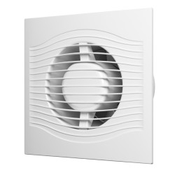 SLIM 4C siva kovina, Aksialni izpušni ventilator s povratno loputo D 100, décor
