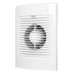 STANDARD 5C gray metal, Axial exhaust fan with back flow valve and light indication of work D 125, décor