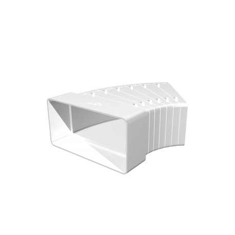 Horizontal flat elbow of different angles  for rectangular ducts 60kh120