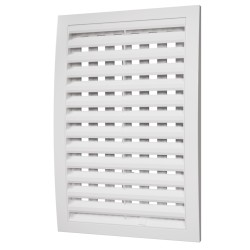 Removable grill with adjustable flow section 150x150 Ivory