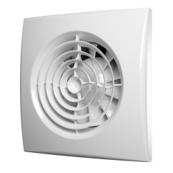 Axial exhaust fan with controller Fusion Logic 1.1 and back flow valve BB D100, Ivory