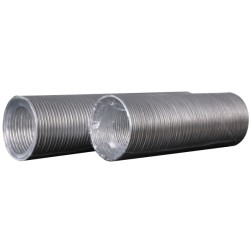 Aluminum flexible goffered air duct, L up to 3 m, D 100 mm