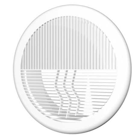 Exhaust removable round grill D200 with flange D160