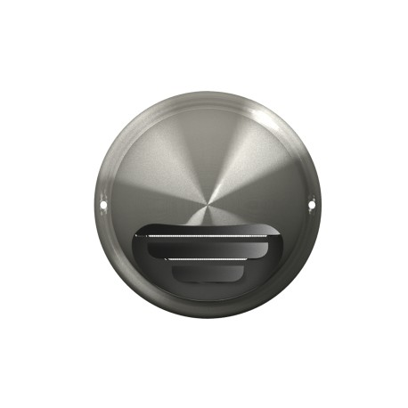 Exhaust wall outlet with flange D100, stainless steel