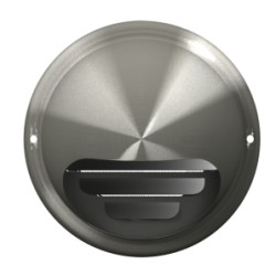 Exhaust wall outlet with flange D125, stainless steel