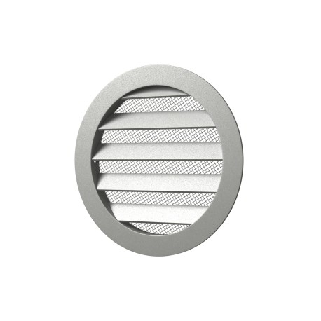 Outside round grill with screen D185 with flange D160, Aluminum