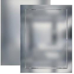L1520  chrome, L1520 krom, Drsna revizijska vrata168x218 s prirobnico 146x196 xBS, décor