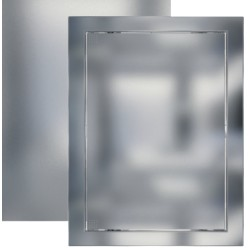 L1520 chrome, Push revision hatching door168x218 with flange 146x196 ABS, décor
