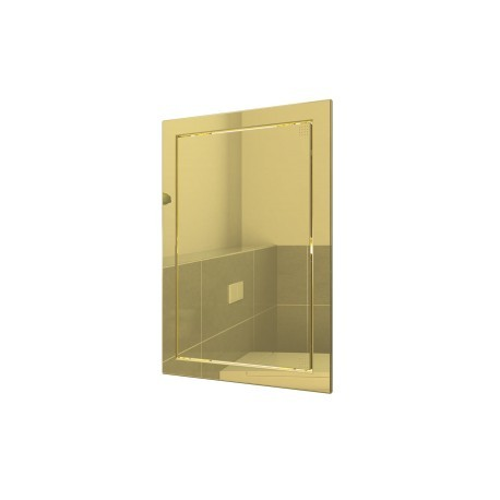L1515  gold, Push revision hatching door168x168 with flange 146x146 ABS, decor