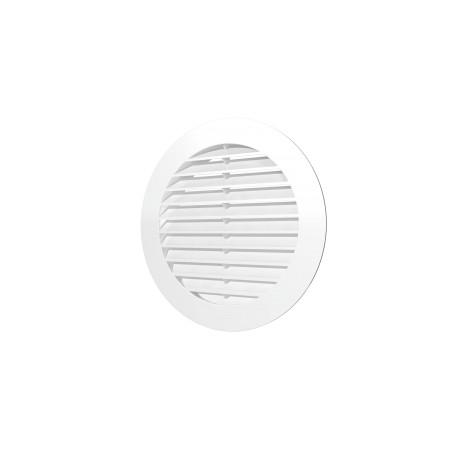 Zunanja okrogla rešetka D150 s prirobnico D125, ASA plastik