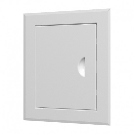 Steel revision hatching door 310x310 with flange 250x250 and handle in gofferred packing