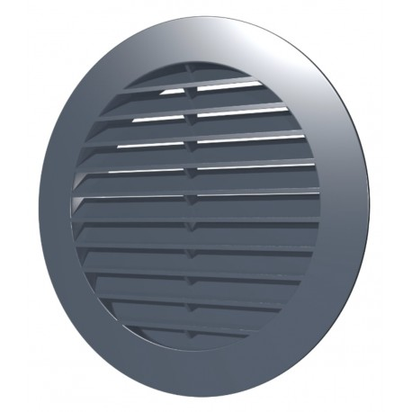 Outside round grill D200 with flange D150, ASA plastic