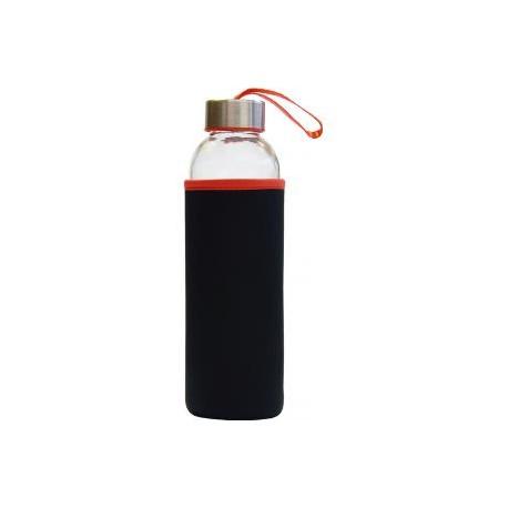 Steklenička STREAM 500ml črna/rdeča