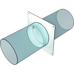 10SKNPO Okrogel cevni priključek s povratno loputo D100