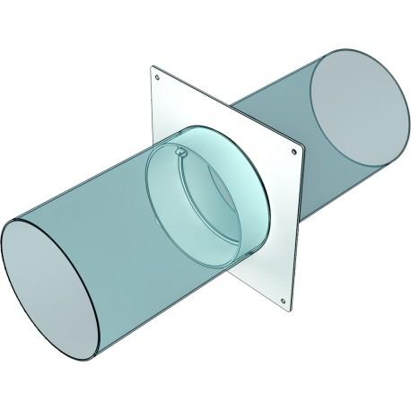 12,5SKNP Okrogel cevni priključek s pokrivno ploščo , D125