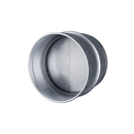 Metal connector with protection against back draught D125