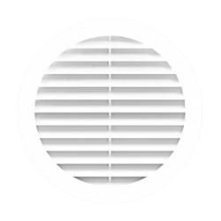 Okrogla rešetka za odvod zraka D150 s prirobnico D150