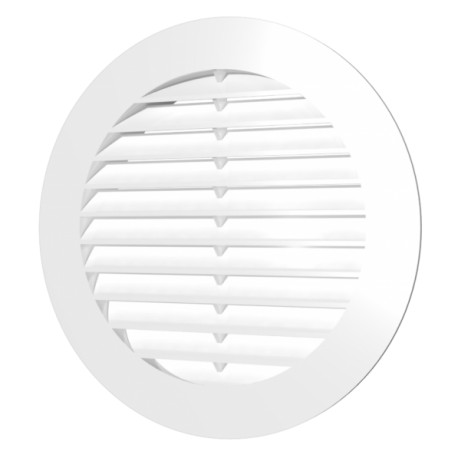 Exhaust round grill with plastic screen D130 and flange D100