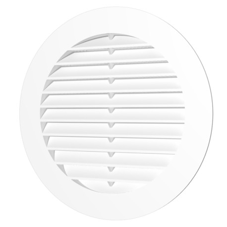 Exhaust round grill with plastic screen D150 and flange D125